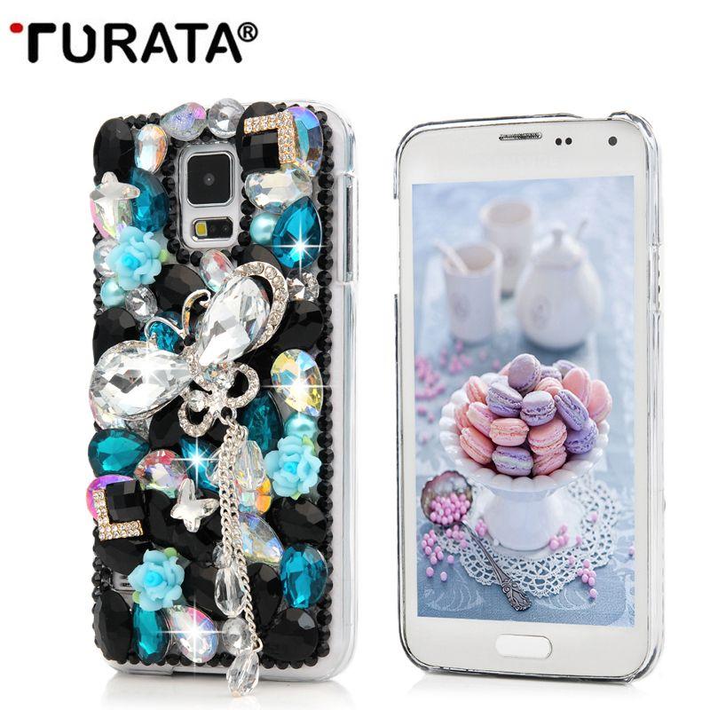 3D Bling Cristal Strass Pour Samsung A3 A5 A7 2016 J3 J5 J7 2017 Note 3 4 5 S5 Mini S6 S7 Bord S8 Plus Capas Cas T35