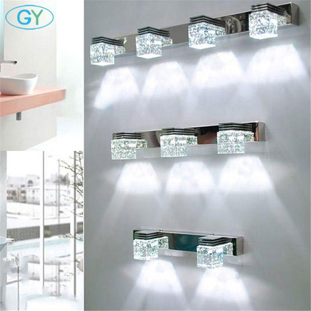 Moderne bad eitelkeit leuchten industrielle led kristall up spiegel front lichter lange wandleuchter bar 1 2 3 4 5 6 licht