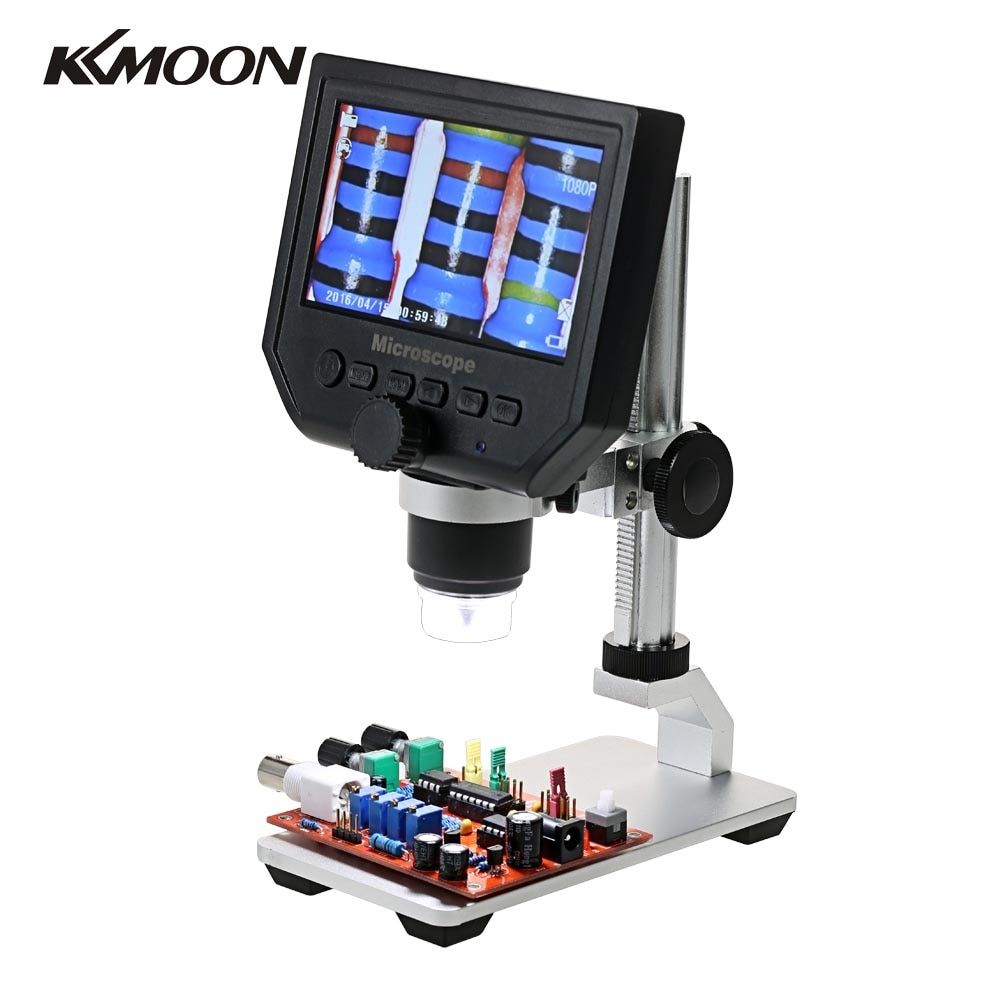 G600 600X LCD Display Electronic Microscope Zoom 3.6MP Portable LED Digital Video Microscope With Aluminum Alloy Stent