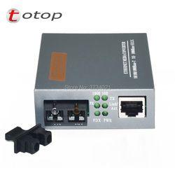 1 Pasang HTB-GS-03 Sebuah/B Gigabit Serat Optik Media Konverter Tunggal Mode Ganda Serat SC Port 20 KM Eksternal sumber Daya Listrik