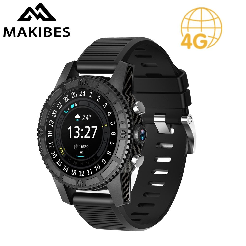 Free shipping Makibes MK01 Smart watch 1MB+16GB WIFI 4G GPS Heart Rate Bluetooth Quad Core Google Map Browser I7 Watches Phone
