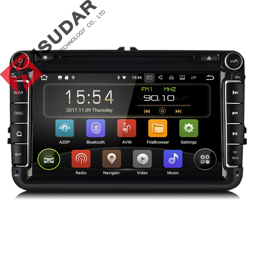 Isudar Car Multimedia player Android 7.1 GPS Autoradio 2 Din USB For Volkswagen/VW/ Passat/POLO/<font><b>GOLF</b></font>/Skoda/Seat/Leon Radio Wifi