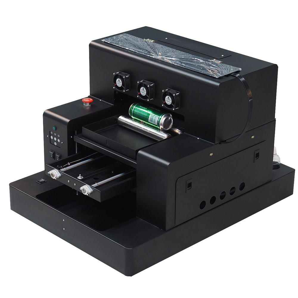 Automatische A3 UV Drucker Flasche drucker druck weiße farbe an einem zeit telefon fall a3 uv drucker für Zylinder druck maschine