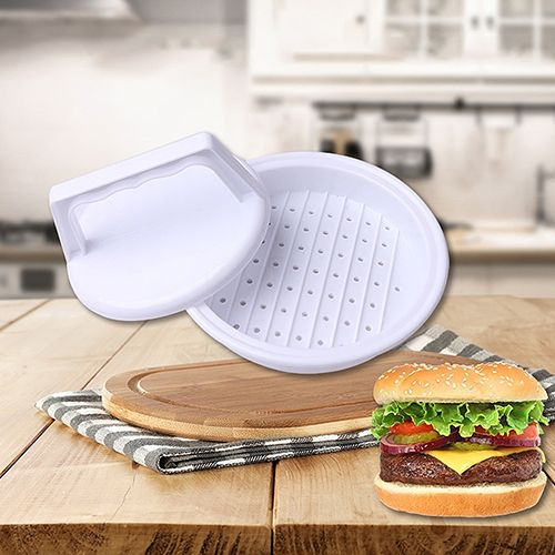 Cooking Tool Round Meat Pie Mould Burger Hamburger Grill BBQ Patty Maker Mold 09WG