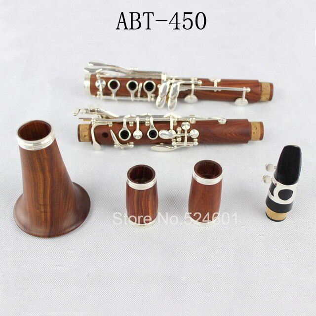 Verbund ABT-450 E13 Rot Holz Professionelle Klarinette Trop B Tuning, rosenholz Mahagoni Klarinette Versilberung zubehör Buffet Schlüssel