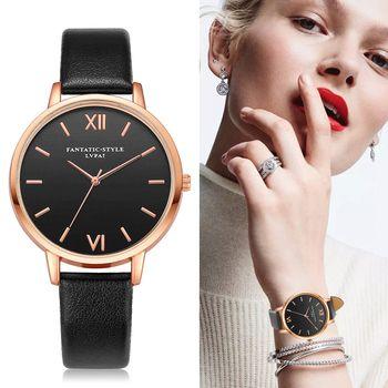 2017 Rose Or Lvpai Marque En Cuir Montre De Luxe Classique Montre-Bracelet De Mode Casual Simple Montre À Quartz Horloge Femmes Montres
