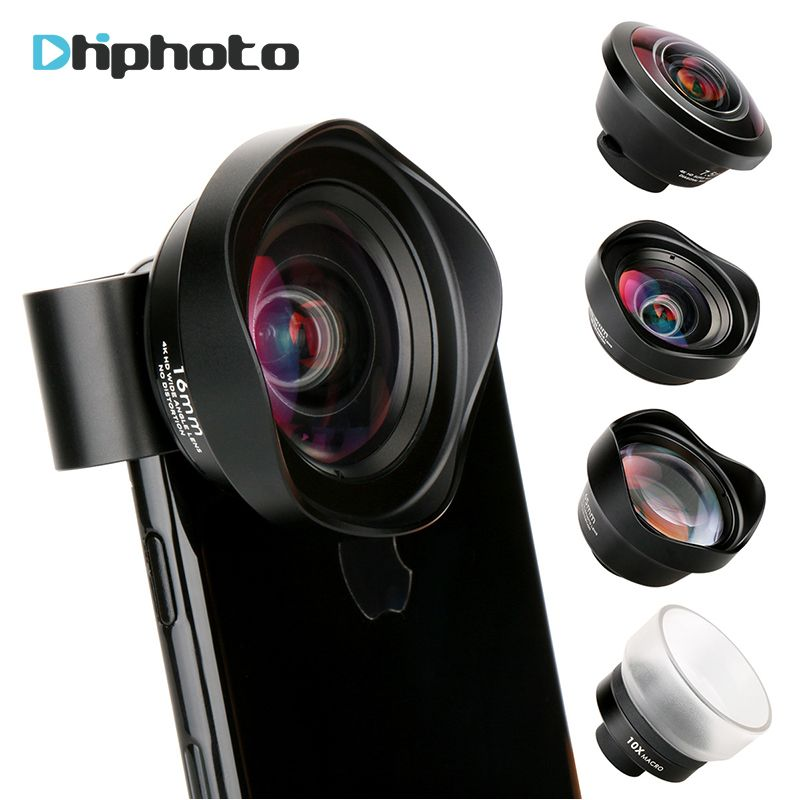 4 in 1 Cell Phone Camera Lens Kit Wide Angle Telephoto lens Macro Lens Fisheye Lenses for iPhone 6 7 Samsung Galaxy HTC Xiaomi