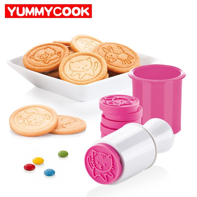 6pcs/set Cartoon Stamps Moulds Christmas Tree Cookie Tools Cake Decoration Bakeware Kitchen Gadgets Accessories Supplies Product