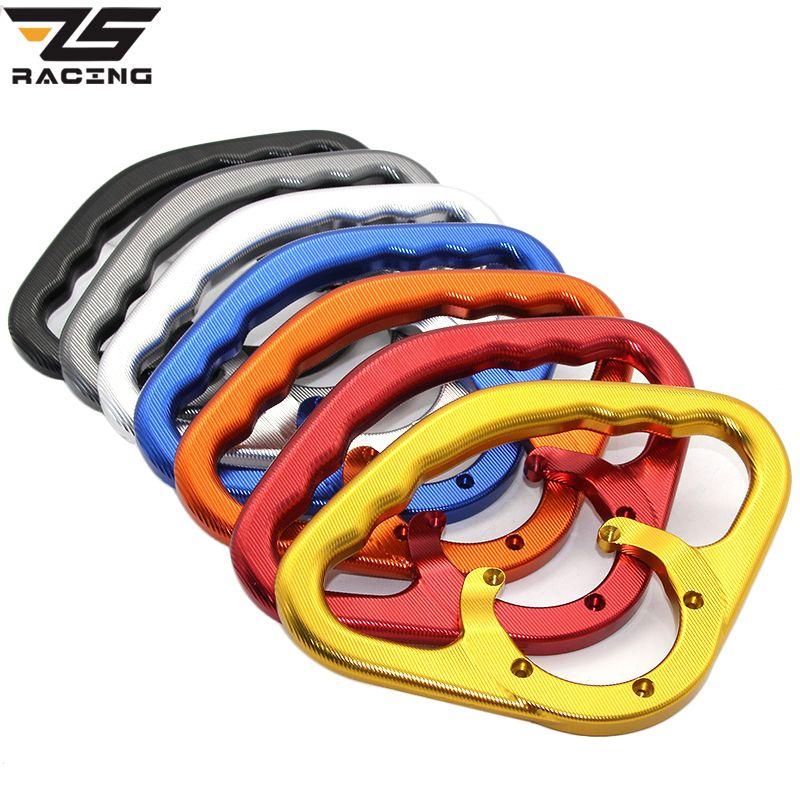ZS-Racing Passenger Safety Handle Motorcycle Front Tank Handrails For Suzuki GSXR GSX-R 600 750 GSXR600 GSXR750 2001-2014