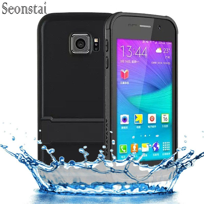 Original For Samsung Galaxy S6 Case ip68 Water Dirt Shock Proof Cover for Galaxy s 6 G9200 G920f G920i Waterproof Bag with stand