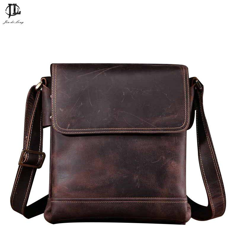 Для мужчин s сумка кожаная Для Мужчин's Пояса из натуральной кожи Сумки Для мужчин; сумка через плечо Crazy Horse сумки Портфели Бизнес Пак