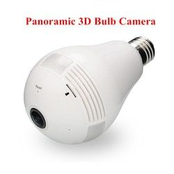960 1.3MP Bulb Light Wireless IP Camera Panoramic Wi-Fi Lamp FishEye WIFI Camera 360 Degree Mini CCTV Home Security
