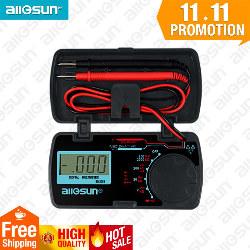 All-Sun EM3081 Digital Multimeter 3 1/2 1999 t AC/DC Ammeter Voltmeter Ohm Portable Meter voltage meter