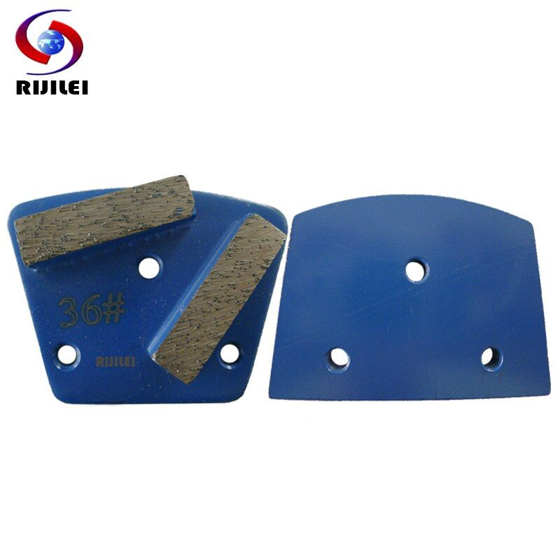 RIJILEI 30 PCS/lot trapézoïdal métal diamant disques de meulage Pad forte magnétique chaussures de meulage plaque de béton sol meuleuse A10