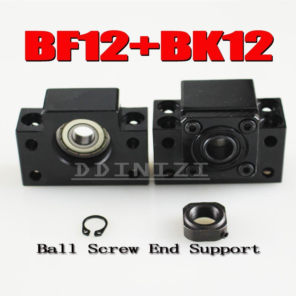 BK12 BF12 Set: 1 stück von BK12 und 1 stück BF12 für SFU1605 KUGELGEWINDE Unterstützung CNC teile BK/BF12