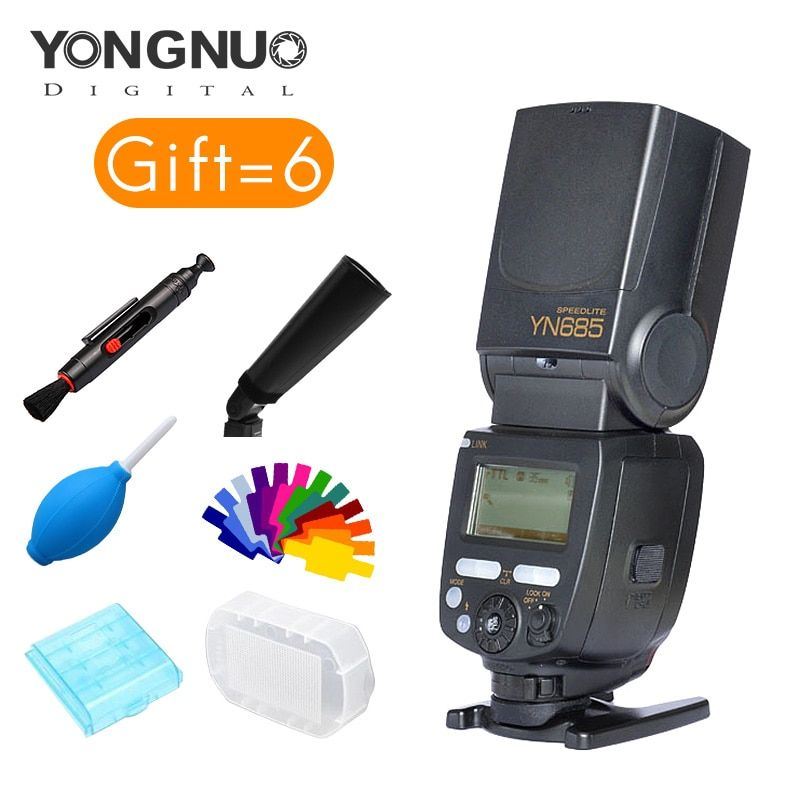 YONGNUO YN685C/N GN60 2.4G System ETTL 1/8000 Shutter sync speed HSS Wireless Flash Speedlite with Slave for Canon or nikon