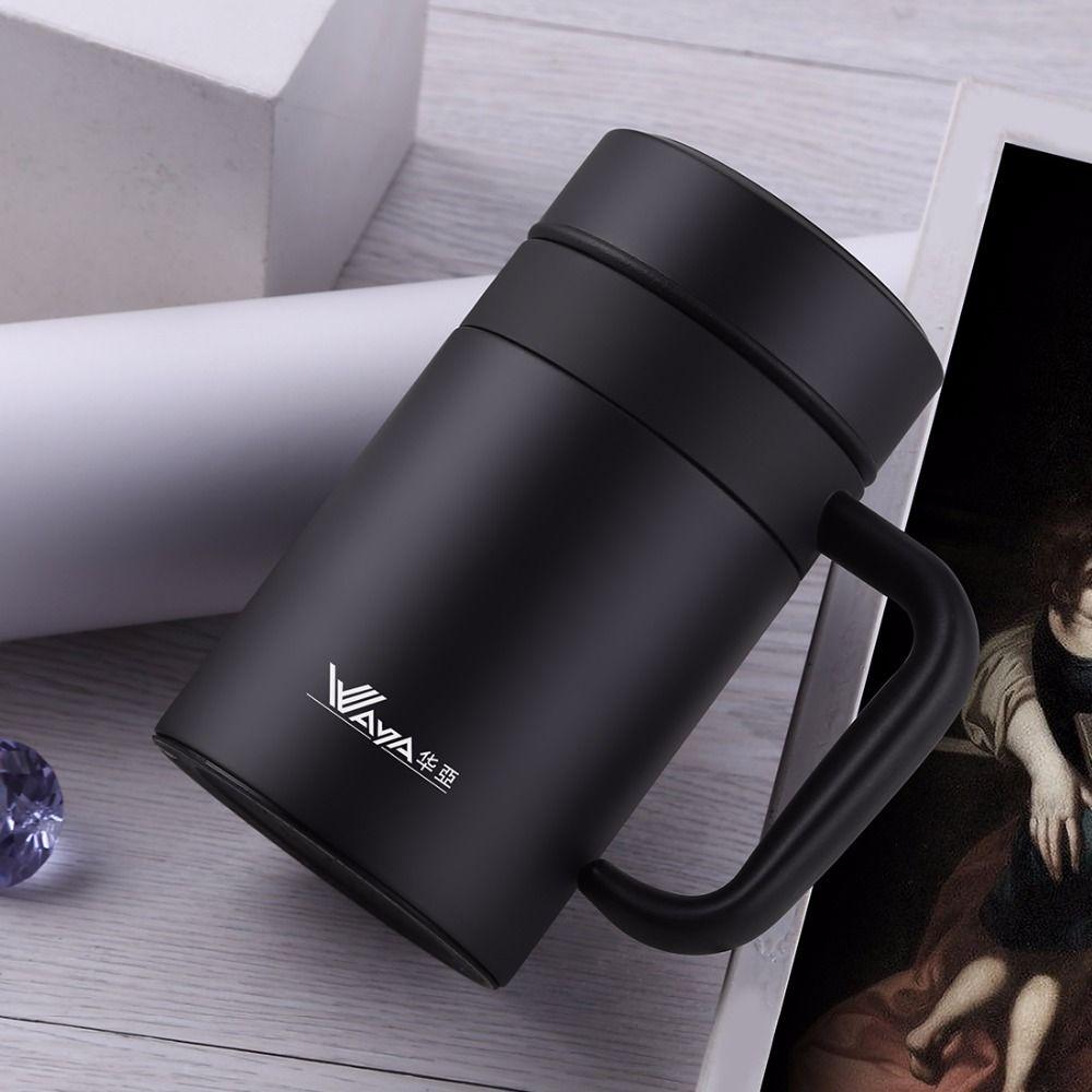 420 ml taza térmica 304 Acero inoxidable taza oficina con filtro café Thermos taza aislada té Thermos taza Oficina de los hombres termos