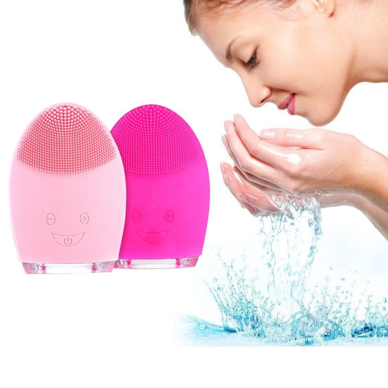 Mini Electric Facial Cleaning Skin Care Massage Brush Face Washing Machine Waterproof Silicone Face Cleanser Dirt Remove