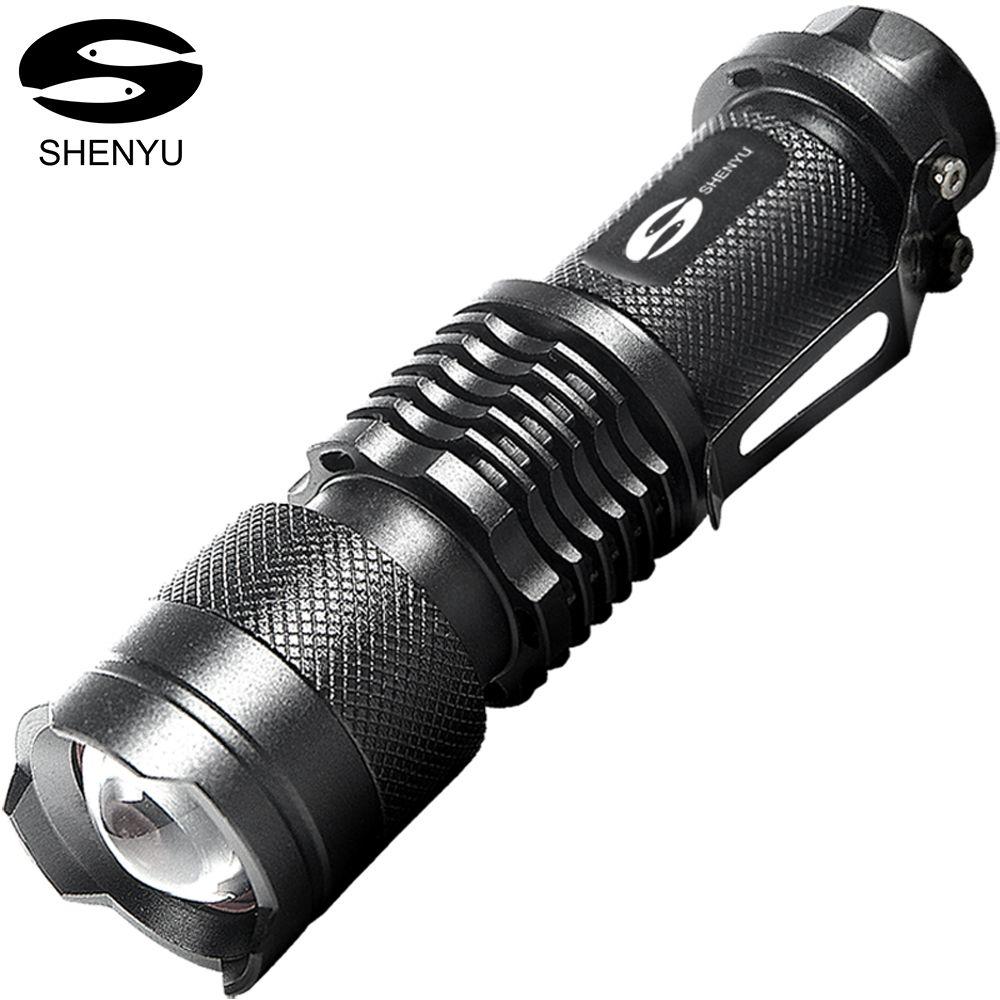 SHENYU 2000 Lumen Ultra Lumineux Tactique lampe de Poche 3 Modes 5 w Mini Format De Poche Léger Torche
