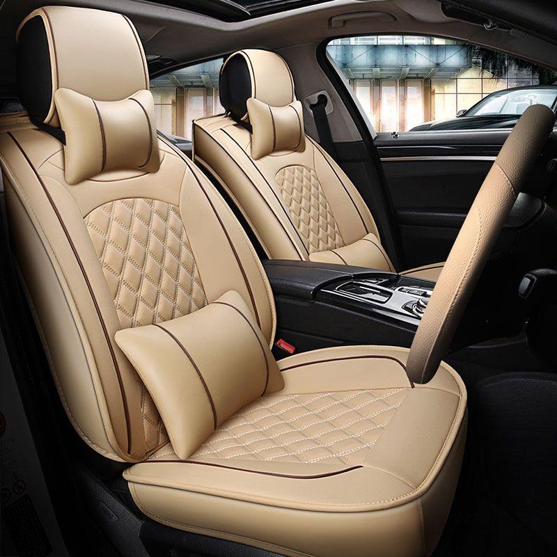 Universal autositzbezüge leder auto abdeckungen für Subaru Legacy BL BP Justy Trabeca bb Land Rover Discovery 3 4 freelander 2