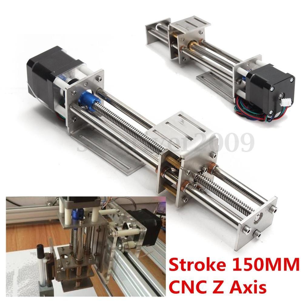 Blurolls 50mm/150mm Slide Stroke CNC Z Axis slide Linear Motion +NEMA17 Stepper Motor For Reprap Engraving Machine