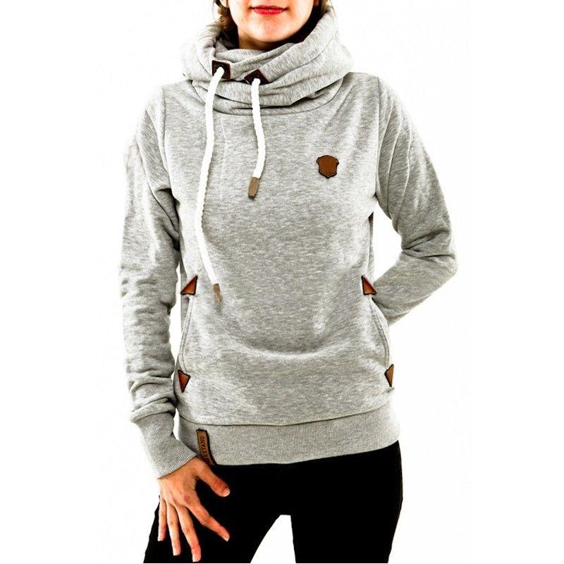 Automne hiver 2016 Femmes Hoodies Femme Chaud Sweat À Capuche À Manches Longues Poches Casual Lâche Pulls Plus La Taille S-5XL