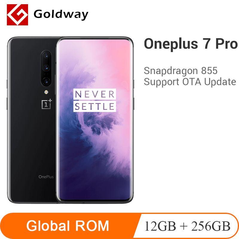 Globale ROM Oneplus 7 Pro 12GB 256GB Smartphone Snapdragon 855 4000mAh 6,67