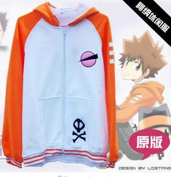 Katekyo Hitman Reborn Cosplay Costume Anime Tsunayoshi Tsuna Vongola Sawada Casaco Moletom Gokudera Com Capuz Hoodie Jacket