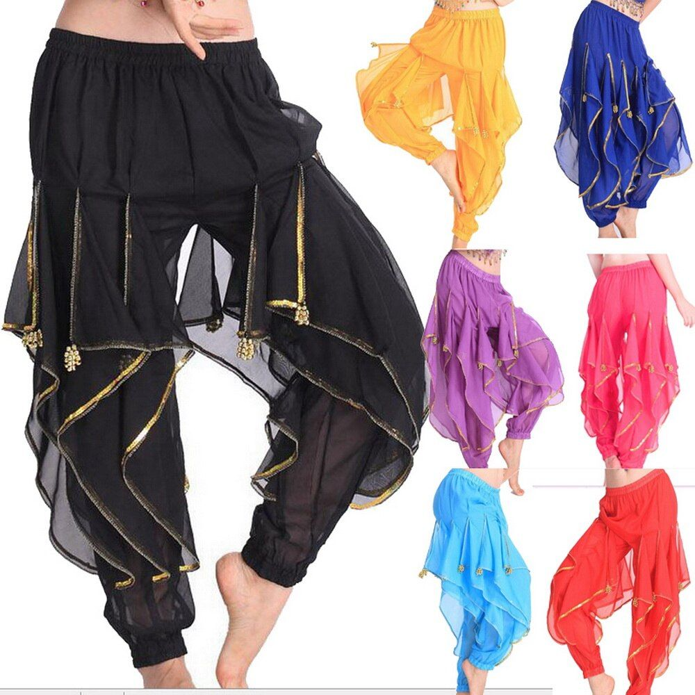 2017 Belly Dance Costumes Tribal Wavy Harem Pants Skirts Balloon Bollywood Dancewear 7Colors Hot Sale Wholesale