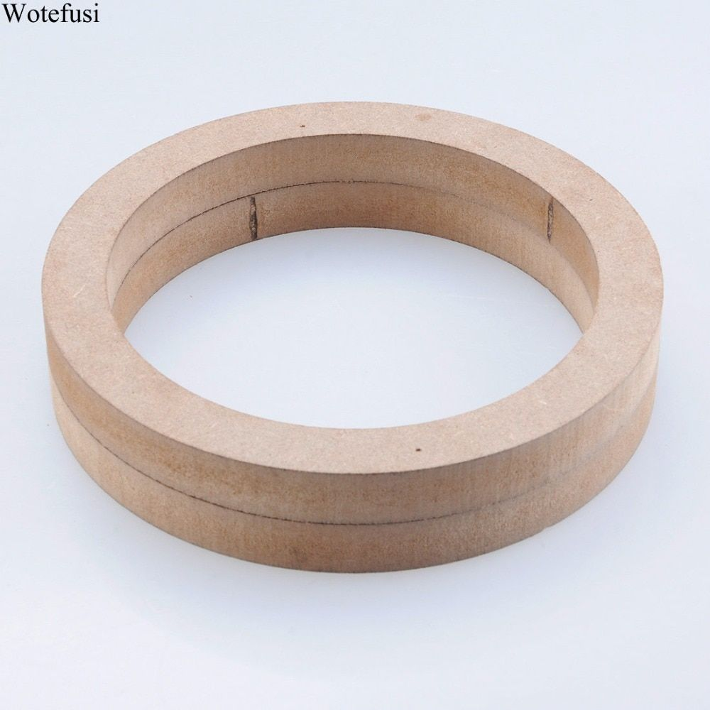 Wotefusi Car Stereo 6.5 Wooden MDF Speaker Mounting Spacer Rings 2pcs Universal [QPA433]