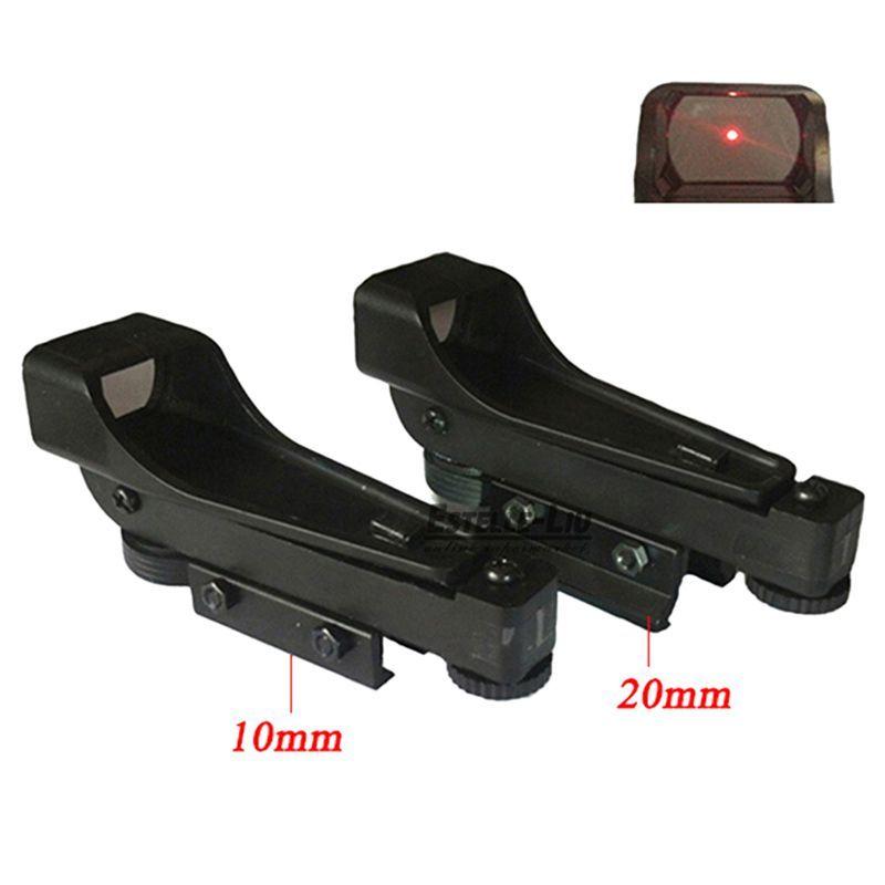 New Tactical Reflex sight Red Dot Sight Scope Wide View Airgun 10 / 20mm Weaver Rail Mounts1x20x30 Riflescope Airsoft