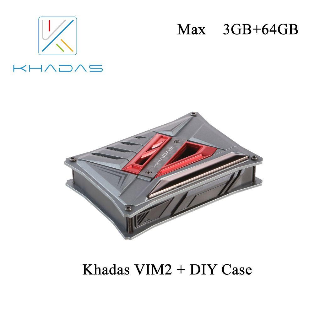 Khadas VIM2 Max Single Board Computer with Linux Ubuntu Mate 16.04 Support DDR4 3GB eMMC 64GB +DIY Case