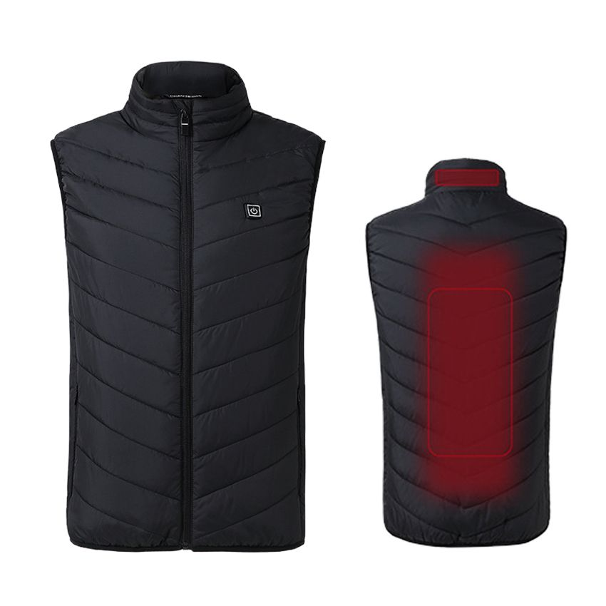 Hommes Hiver Épais USB Chauffage Coton Gilet En Plein Air Sans Manches Coupe-Vent Randonnée Camping Trekking Escalade Vestes De Pêche VA352