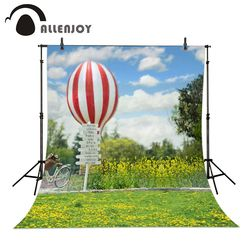 Allenjoy 6.5ftx10ft Photo Background hot air balloon bicycle lawn wedding Photography backdrops Studio For baby Interior Photos