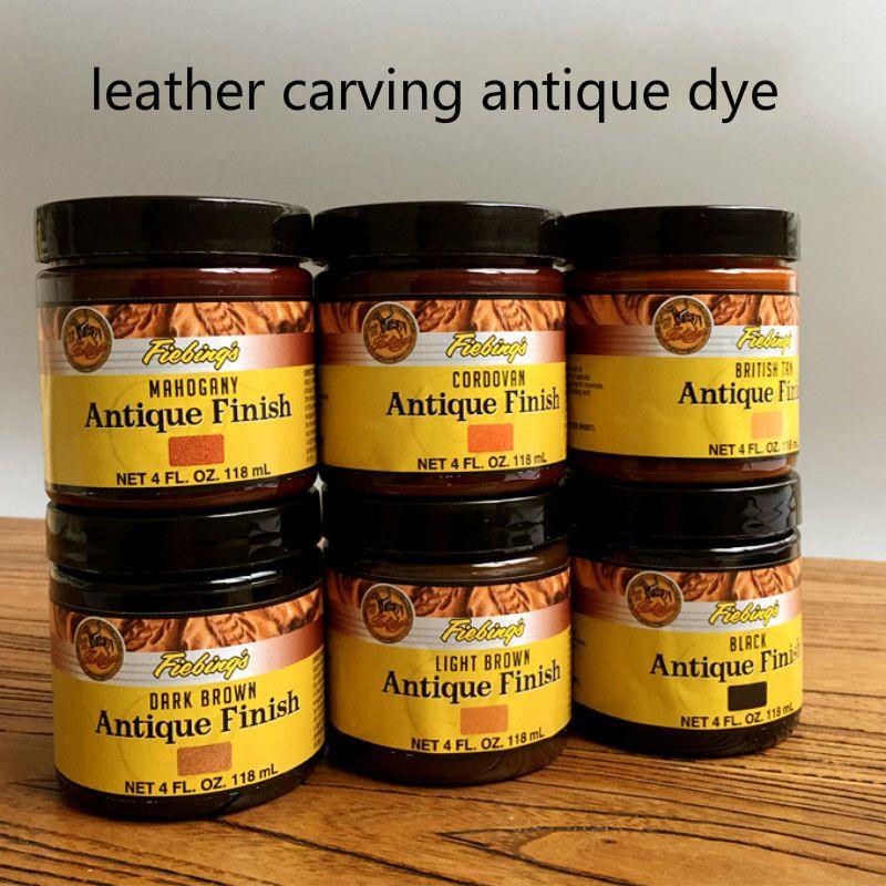 Importation d'amérique 10 couleurs 118 ml colorant crémeux huileux, colorant de sculpture sur cuir antique, crème de teinture à l'huile de cuir