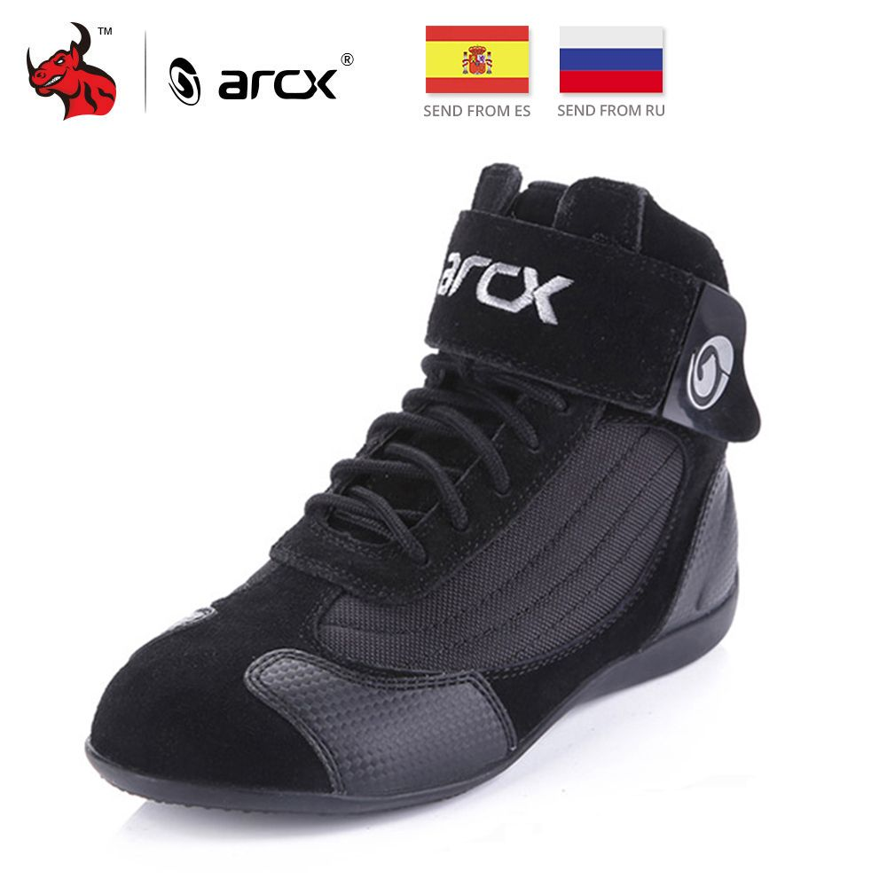 ARCX Motorcycle Boots Moto Riding Boots Genuine Cow Leather Motorbike Biker Chopper Cruiser Touring Ankle <font><b>Shoes</b></font> Motorcycle <font><b>Shoes</b></font>