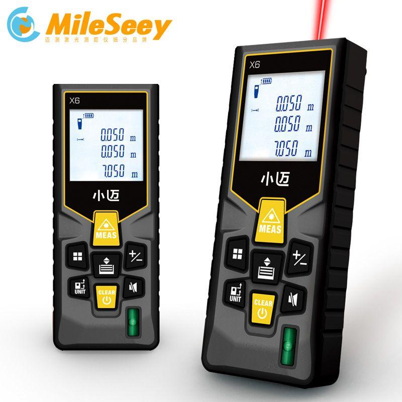 Mileseey MINI Laser Télémètre 40 m 60 m 80 m 100 m Numérique laser Mètre de distance laser Ruban à mesurer Diastimeter testeur outil