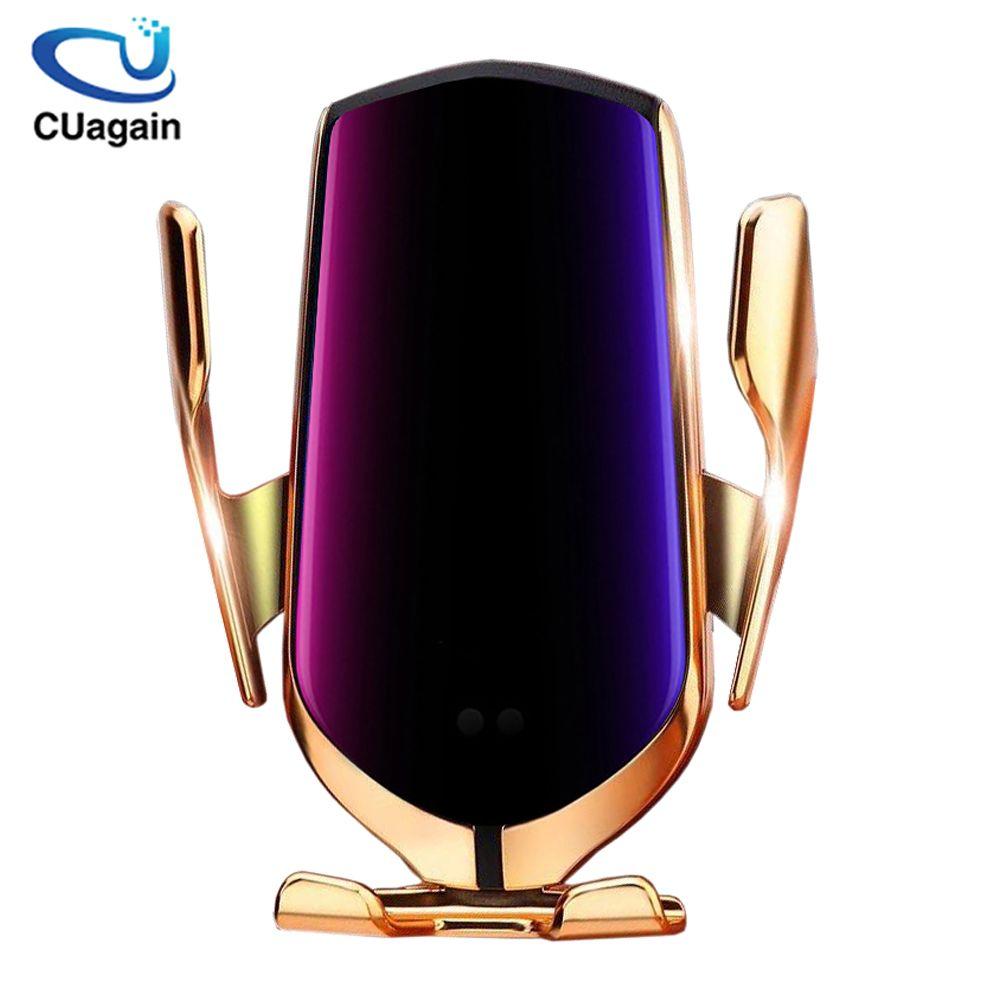10 W chargeur de voiture sans fil S5 serrage automatique charge rapide support de téléphone dans la voiture pour iPhone xr Huawei Samsung téléphone intelligent