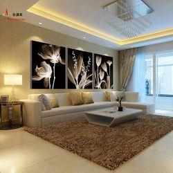 Современная 3 Панель холст абстрактная картина маслом Модульная картина настенное украшение искусство картины для гостиной HD печать цветы ...