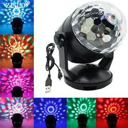 ZINUO Bühne Beleuchtung Voice Control Wirkung RGB LED Bühne Lampen Batterie Kristall Magic Ball Laser Projektor Disco DJ Party Licht