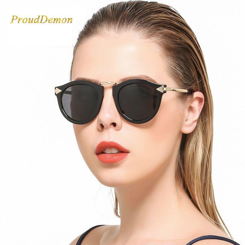 Для женщин металл стрелка Солнцезащитные очки для женщин женские Брендовая дизайнерская обувь без каблука объектив Защита от солнца Очки р...