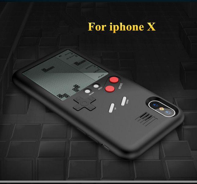 Уникальная Телефонные чехлы для iphone x 7 6 8 8 плюс Чехол ТПУ чехол тетрис игровой консоли внешний вид Защитная крышка подарок для ребенка