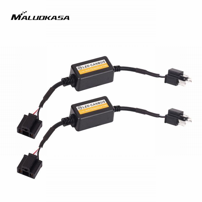 MALUOKASA 9005 9006 H1 H11 H4 H7 LED Canbus Car Headlight Decoder Wiring Adapter DRL LED Lamp Error Canceler Fog Light Canbus