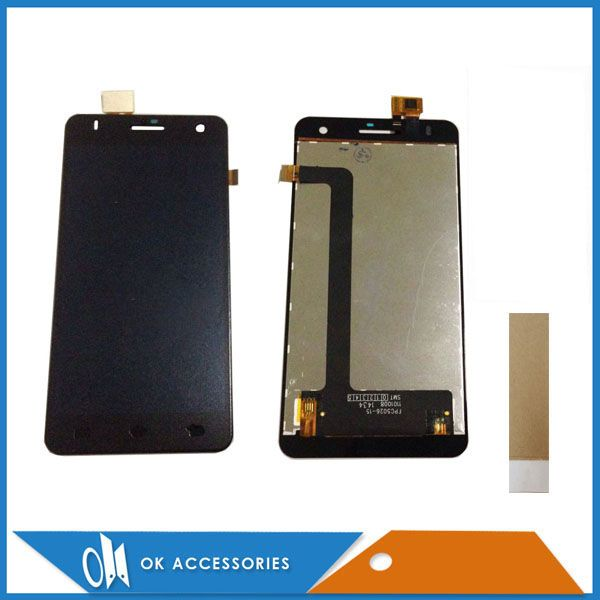 For Fly IQ4512 IQ 4512 LCD Display+Touch Screen Digitizer Assembly High Quality Black Color With Tape 1PC/Lot