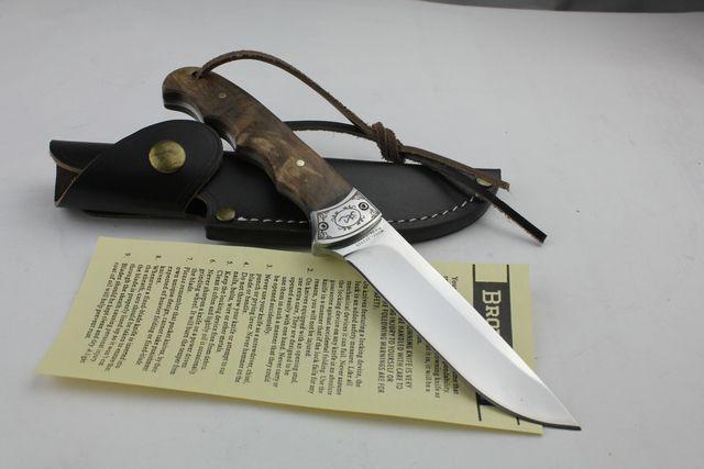 Couteau à lame fixe de pêche de chasse en plein air avec outil de survie de gaine en cuir véritable couteau droit outils à main