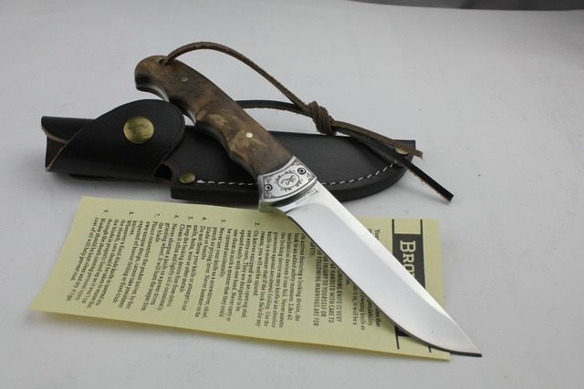 Outdoor Hunting Fishing <font><b>Fixed</b></font> Blade Knife with Real Leather Sheath Survival Tool Straight knife Hand Tools