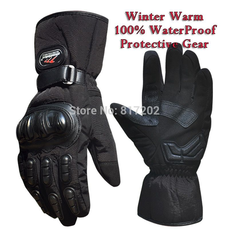Motorcycle Gloves Winter Warm Waterproof Windproof Protective Gloves 100% Waterproof Guantes Luvas