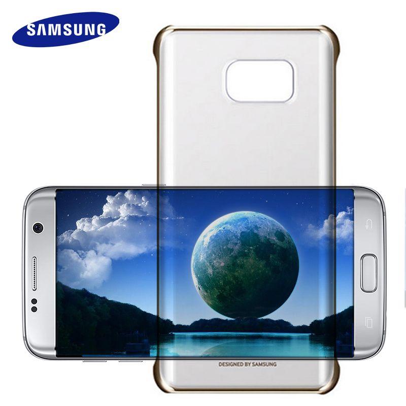 100% D'origine Samsung Galaxy S 6 7 Bord Un 8 9 5 7 (2016) Note 5 Housse Etui Ultra Slim Retour Étui de protection Pour Samsung S7