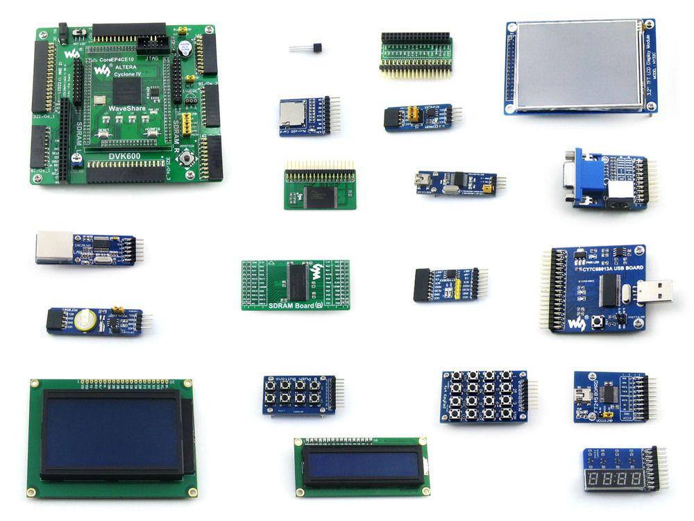 Openep4ce10-c Вышивка Крестом Пакет B # ep4ce10 ep4ce10f17c8n ALTERA Cyclone IV FPGA развитию + 18 аксессуары Модули Наборы