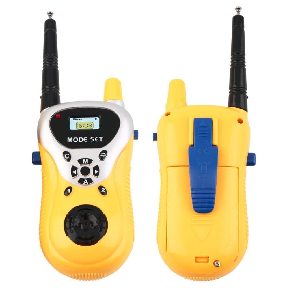 Newest 2pcs/lot Professional Intercom Electronic Walkie Talkie Kids Child Mni Handheld Toys Portable Two-Way Radio Free Shipping
